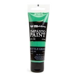 Prima Finnabair Art Alchemy Impasto Paint - Bottle Green (2.5 Fluid Ounces)