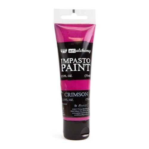 Prima Finnabair Art Alchemy Impasto Paint - Crimson (2.5 Fluid Ounces)