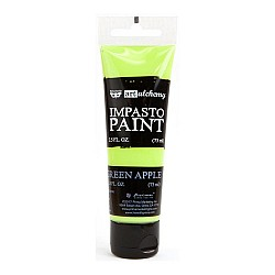 Prima Finnabair Art Alchemy Impasto Paint - Green Apple (2.5 Fluid Ounces)