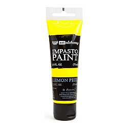 Prima Finnabair Art Alchemy Impasto Paint - Lemon Peel (2.5 Fluid Ounces)