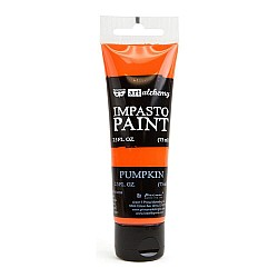 Prima Finnabair Art Alchemy Impasto Paint - Pumpkin (2.5 Fluid Ounces)