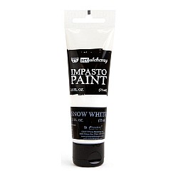 Prima Finnabair Art Alchemy Impasto Paint - Snow White (2.5 Fluid Ounces)
