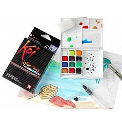 Sakura Koi Pocket Field Sketch Box - 12 Shades