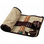 Hakims Pencil Wrap for Artists - 48 Elasticised Compartments