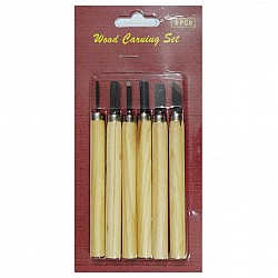Wood Carving Set (6 pcs)