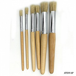 Stencil Brushes (Set of 6 brushes)