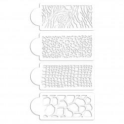Cake Stencil - Animal Prints (Set of 4)