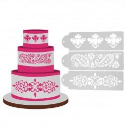 Cake Stencil - Flourishes (Set of 3)