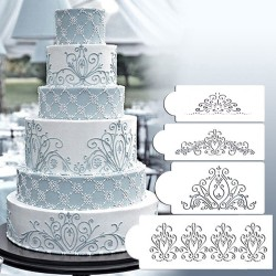 Cake Stencil - Damask And Flourish (Set of 4)