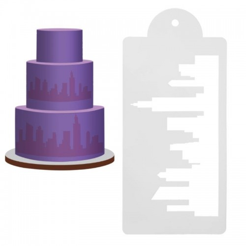 Cake Stencil - Skyline