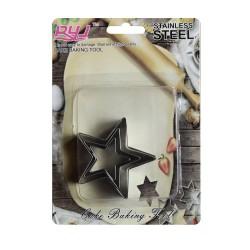 Metal Cookie Cutter Set - Stars - Design 2