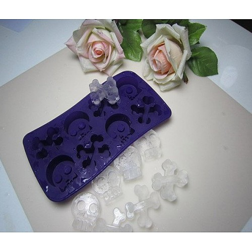 2D Skulls and Crosses Silicone Ice or Chocolate Mold