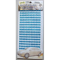 Say it in crystals - Large Bling Stickers - Sky Blue