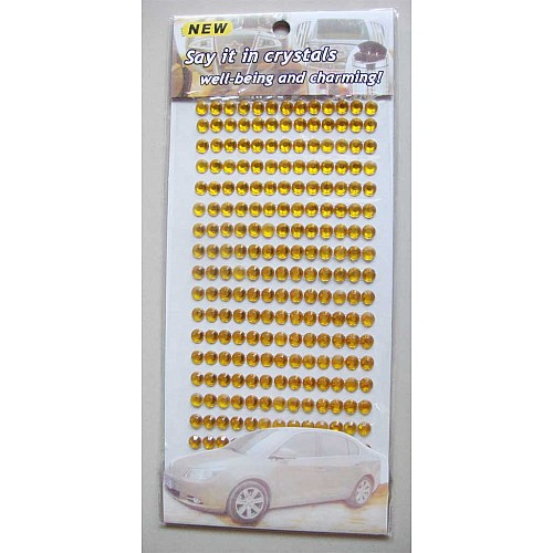 Say it in crystals - Large Bling Stickers - Dark Yellow