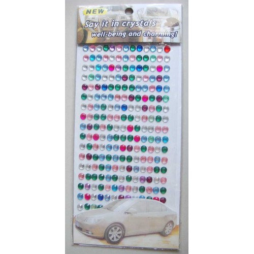 Say it in crystals - Large Bling Stickers - Multicolor Lights