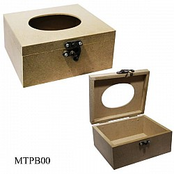 MDF wooden tissue box (6 by 5 by 3 inch)