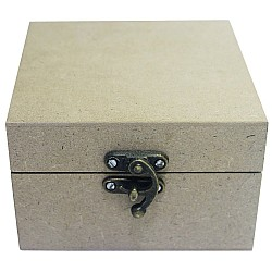 MDF wooden box (4.5 by 4.5 by 2.75 inch)