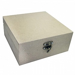 MDF wooden box (6.25 by 6.25 by 2.75 inch)