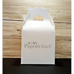 Favor Box with Handle - pack of 5 (Papericious Die Cut Boxes)