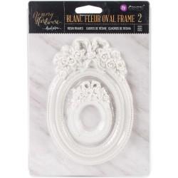 Prima Frank Garcia Memory Hardware Resin Frames - Blanc Fleur Oval (2/Pkg)