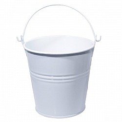 Mini Bucket with bail (3 by 2.2 inch) - White