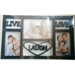 Photo Frame (Black) - Live Love Laugh