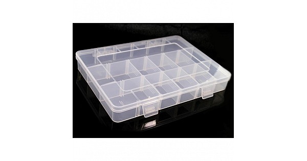 Buy 18 grid removable plastic storage box small online for Plastic grid sheets crafts
