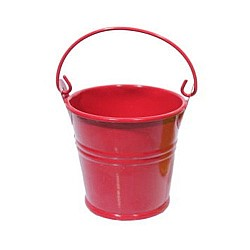 Mini Bucket (2 by 1.5 inch) - Red