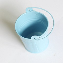 Mini Bucket (2 by 1.5 inch) - Baby Blue