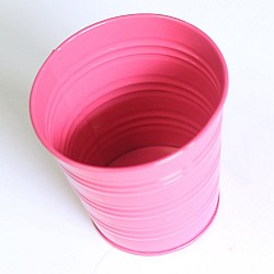Mini Bucket without bail (3.5 by 2.8 inch) - Dark Pink