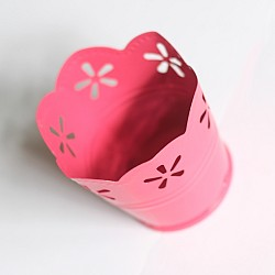 Mini Curved Bucket without bail (2.5 by 1.6 inch) - Dark Pink
