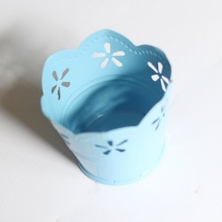 Mini Curved Bucket without bail (2.5 by 1.6 inch) - Baby Blue