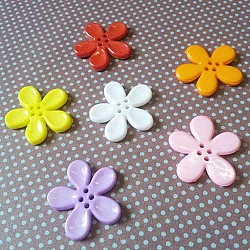 Plastic Flower Buttons - Assorted