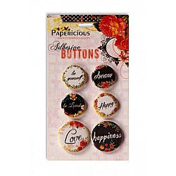 Papericious Adhesive Buttons - Be You