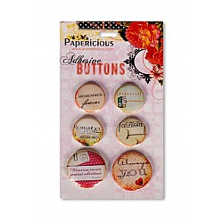 Papericious Adhesive Buttons - Remember Forever