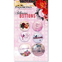 Papericious Adhesive Buttons - Infinity