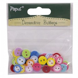 Decorative button pack - Medium (Mix colors)