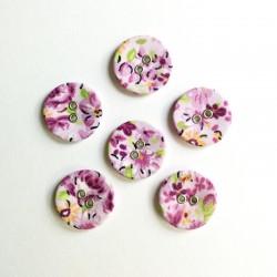 Floral Buttons - Lavendar