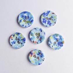Floral Buttons - Blue