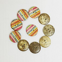 Wooden Circle Shape Button Pattern 5 - Big