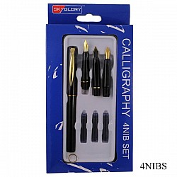 Calligraphy Pen with 4 Nibs (4NIBS)