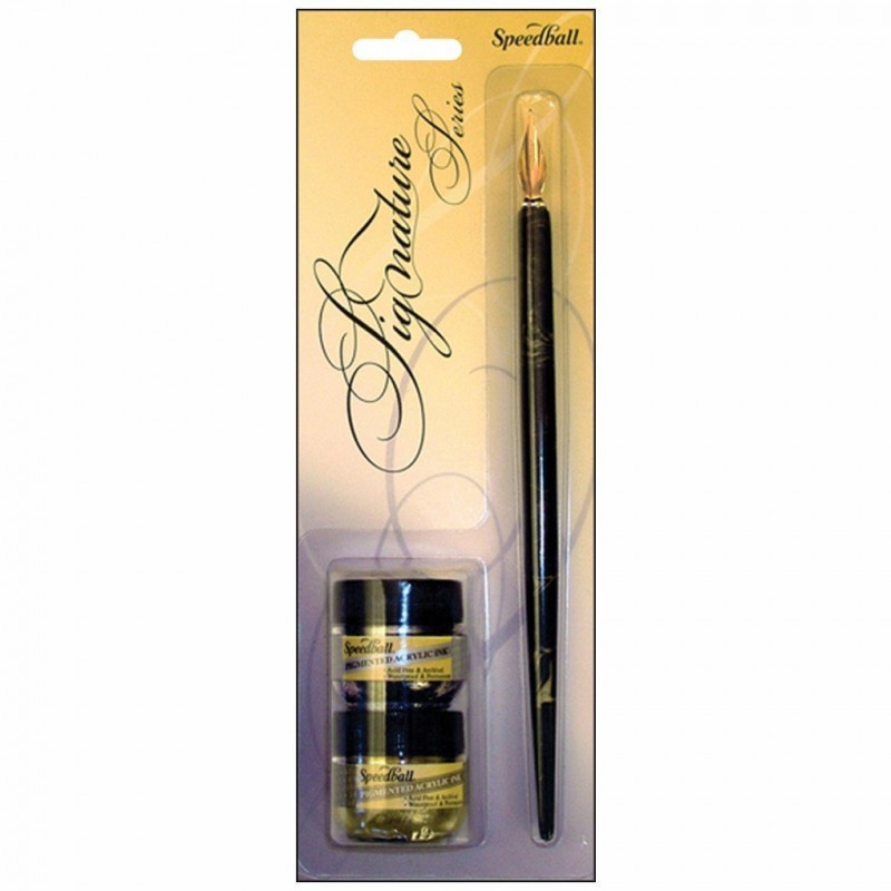 speedball pen how to use