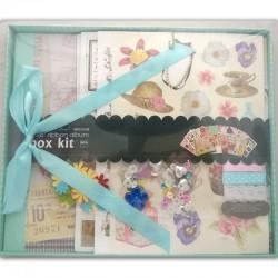 8 by 8 Scrapbook Kit by EnoGreeting - Floral