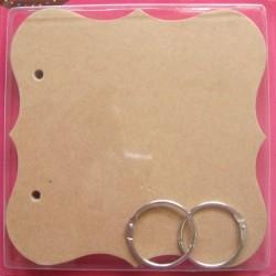 Chipboard Album - Curved Square