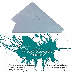 CrafTangles Notelets (Card bases and coordinating envelopes) - Silver (10 pcs)
