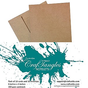 CrafTangles Notelets - Kraft Brown (10 pcs)