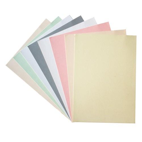 Set of 8 A4 Metallic Cardstock - Pastels (220 gsm)
