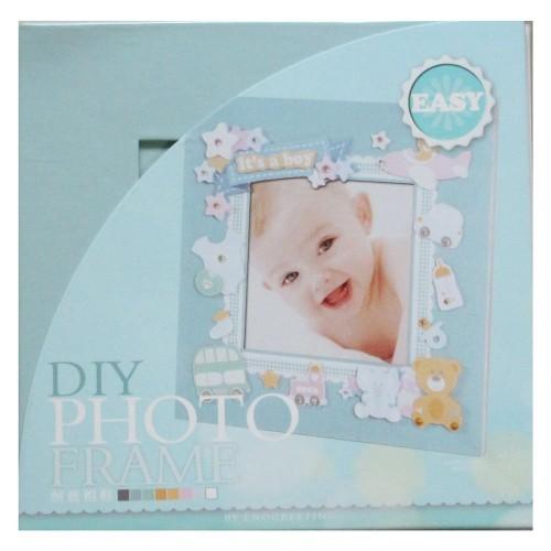 DIY Photo Frame Kit by EnoGreeting - Its a Boy