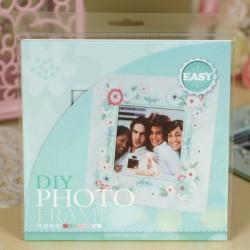 DIY Photo Frame Kit by EnoGreeting - Floral Blue