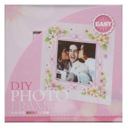 DIY Photo Frame Kit by EnoGreeting - Floral Pink